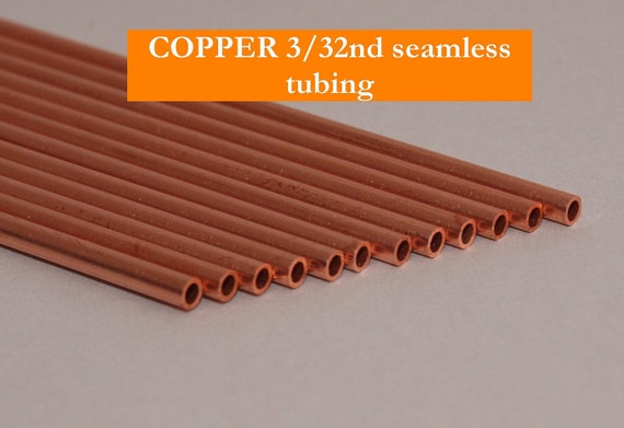 Small Copper Tubing Sizes: 3-32nd CLEARANCE COPPER Seamless Tubing One Dozen By