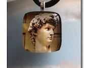 Glass Photo Pendant - Michelangelo's David