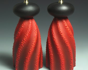Rippled Red and Black Mills MADE TO ORDER