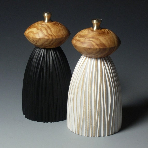 Black and White Mills (olivewood tops)