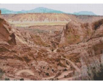 Desert Trails,bead pattern for loom or peyote