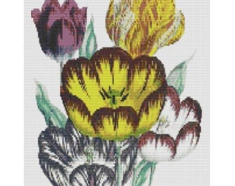 Study In Tulips, bead pattern for loom or peyote