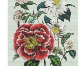 Antique Flower 2, bead pattern for loom or peyote