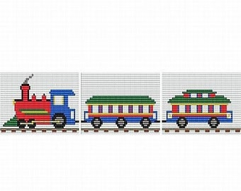 Toy Train, pattern for loom or peyote