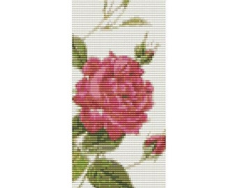 Memory Rose Cuff, bead pattern for loom or peyote