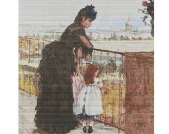 Balcony by Berthe Morisot, pattern for loom or peyote