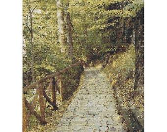 Green Woods,  pattern for loom or peyote