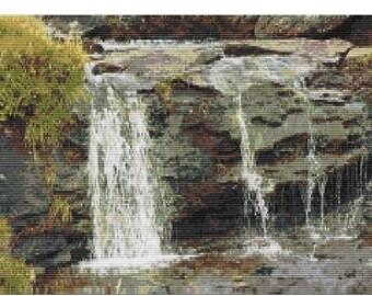 Waterfall, pattern for loom or peyote