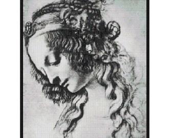 Mary Magdelene by da Vinci,bead pattern for loom or peyote