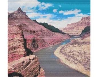 Colorado River Bend, bead pattern for loom or peyote