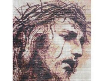 Jesus Is Crowned, pattern for loom or peyote