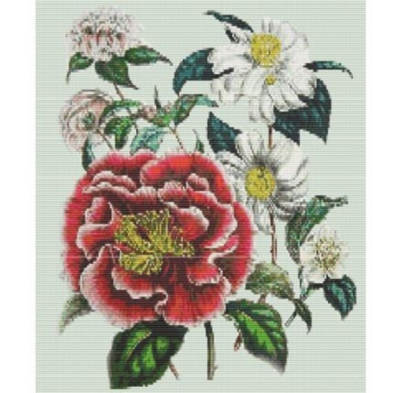 Antique Flower 2 Bead Pattern For Loom Or Peyote