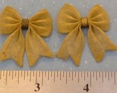 2 vintage mesh brass bows