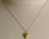 TINY HEART LOCKET NECKLACE n14