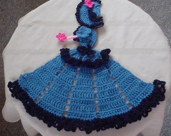 "Crinoline Lady ""Dalphinium""pattern"