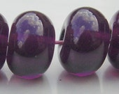 Handmade Dark Amethyst Transparent Lampwork Spacer Beads