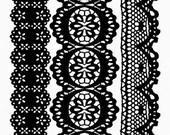 Lace Trim Clear Stamp