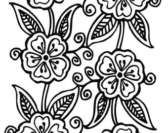 Clear Stamp Henna Tattoo Style (10-7) Texture Rubberstamp Clearstamp