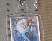 Lost in Memories Hand Assembled Fantasy Adorned Keychain mermaid