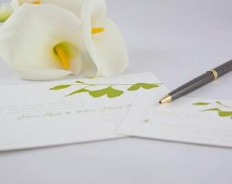 Ginkgo Wedding Invitations
