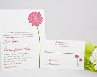Dahlia Wedding Invitations