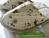 Bedroom/Home Slippers (Dogs & Rabbits) Size L