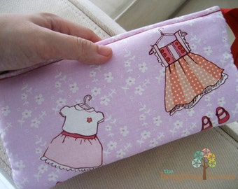 PREMIUM 3in1 Organizer Clutch Purse (Just Stay Little with School Gingham in Red)