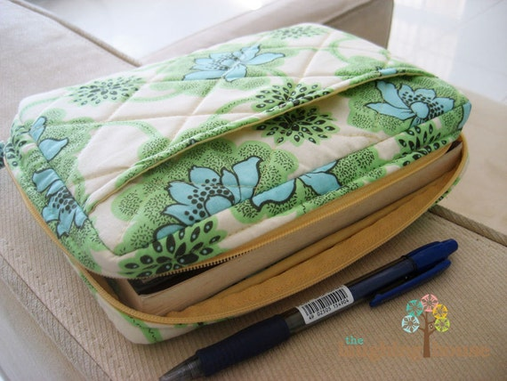 How To Make A Fabric Book Cover With Handles : Bible journal cover w zipper your choice of fabric