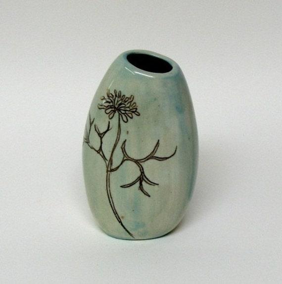 Gizella Vase In Ice Blue