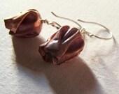 Small Copper Tulip Earrings