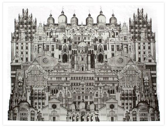 Silver City 2 - Hand-printed Artprint