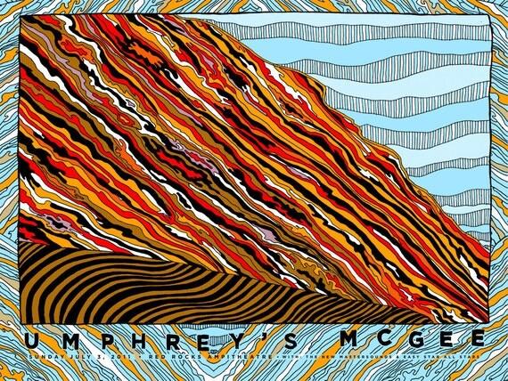 Umphreys McGee-Hand-printed Gigposter- Red Rocks