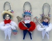 Americana patriotique Chenille ornements - 4 juillet Home Decor