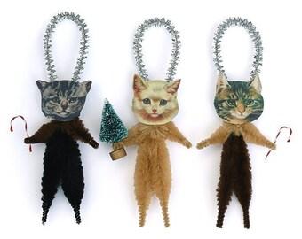 Christmas Cats Holiday Ornaments - Holiday Decor