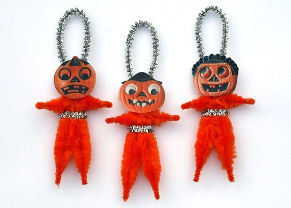 Jack-o-Lantern Halloween Decoration Ornaments - Vintage Style Halloween