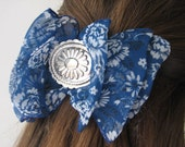Vintage 80s country rockabilly hair bow clip