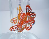 Earrings Butterfly Dangle Recycled Aluminum Soda Cans