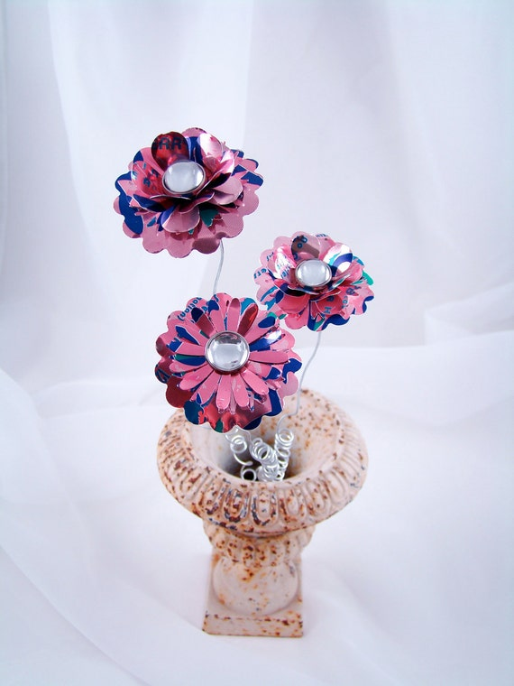 Recycled Pink Flowers Bunch