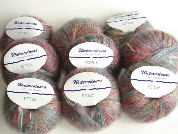 Estelle Watercolours Yarn, Lot of 9 balls