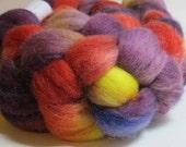 SALE Corriedale Wool Handpainted Top Roving Spinning Felting 117238