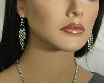 Stainless Steel Chain Earrings