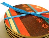 Rustic Patterned Coasters
