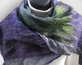 Nuno Felted Scarf or Wrap for Women-Spring Violets