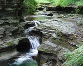 Waterfall Photo Photograph in Ithaca New York Park Trail Creek