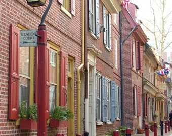 Colorful Street in Philadelphia