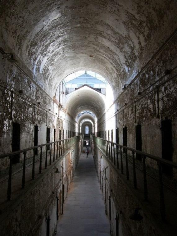 Cellblock At Eastern State Penitentiary Dark Photograph