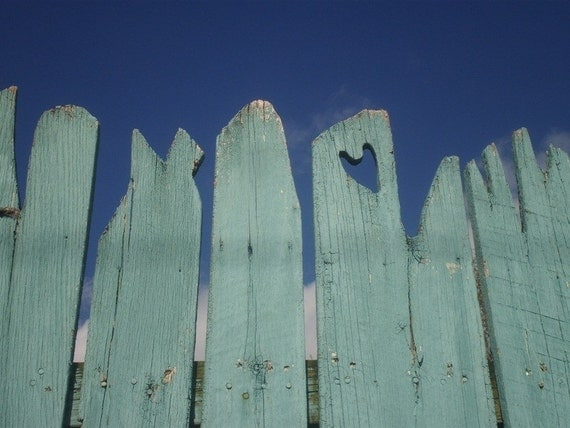 Love in the Air Blue Sky Photograph East Falls Philadelphia Fence Art