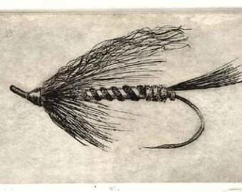 Fly Fishing, Steelhead,  Etching,  skunk, steelhead fly