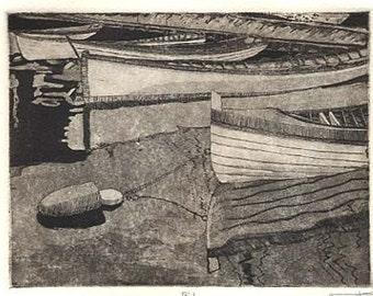 Buoy - Original etching aquatint