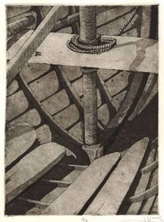 Before the Mast - Original Etching/Aquatint